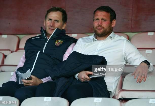 LR Glenn Roeder and Darren Sarll manager of Stevenage during Vanarama National League Football match between Dagenham and Redbridge against Ebbsfleet...