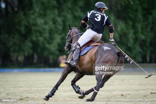 Glenn Sherriff of New Zealand is seen during the International Polo Test between New Zealand and Australia on December 9 2017 in Christchurch New...