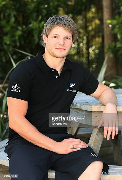 Glenn Snyders poses for a photo during the New Zealand Commonwealth Games Swimming Squad Announcement at West Wave Aquatic Centre on April 10 2010 in...
