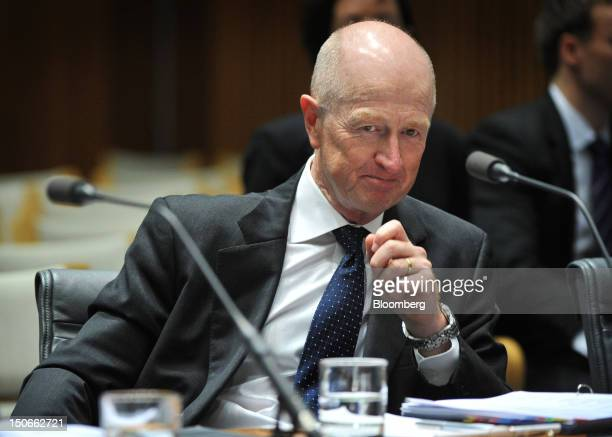 Glenn Stevens governor of the Reserve Bank of Australia attends a hearing before the House of Representatives economics committee at Parliament House...