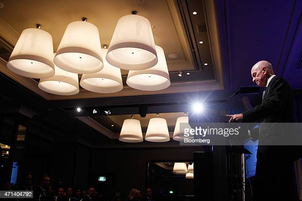 Glenn Stevens governor of the Reserve Bank of Australia pauses during a speech at the Australian Financial Review Banking Wealth Summit in Sydney...