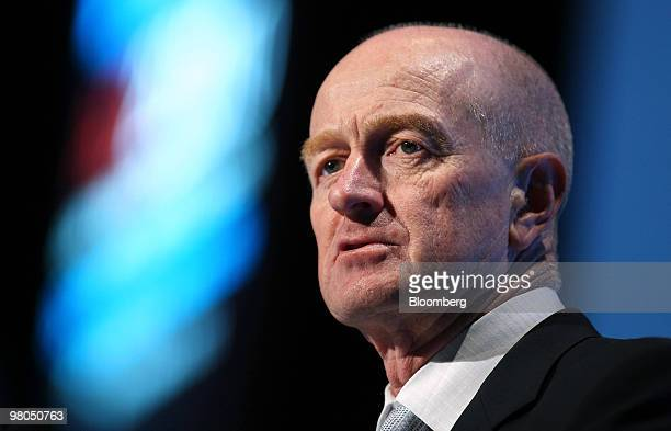 Glenn Stevens governor of the Reserve Bank of Australia speaks at the ACI 2010 49th World Congress in Sydney Australia on Friday March 26 2010 The...