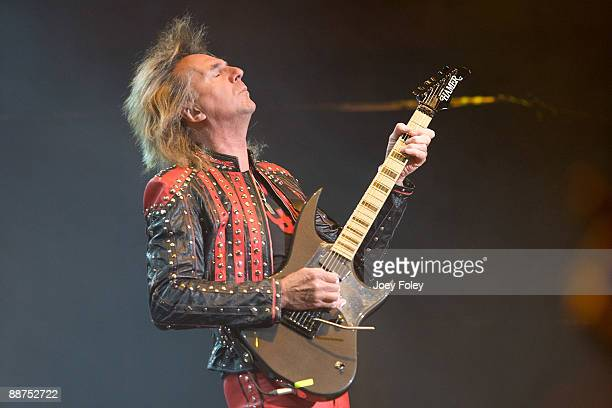 Glenn Tipton of Judas Priest performs in the opening date of their Summer Tour at the Egyptian Room Murat Centre on June 29 2009 in Indianapolis...