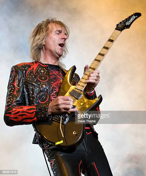 Glenn Tipton of Judas Priest performs on stage as part of the Priest Feast Tour at the LG Arena on February 14, 2009 in Birmingham.