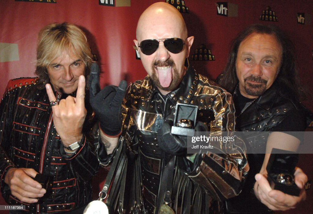 Glenn Tipton, Rob Halford and Ian Hill of Judas Priest