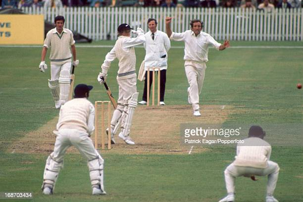 Glenn Turner about to be caught by Graham Roope off Geoff Arnold for 9 1st Test England v New Zealand Trent Bridge June 1973 E731032