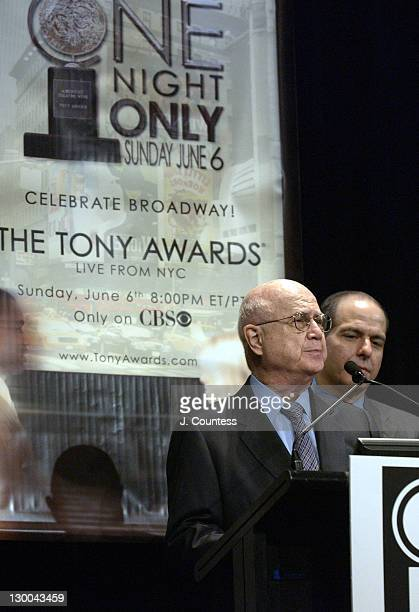 Glenn Weis of the American Theatre Wing during 58th Annual Tony Awards Nominee Announcements at Hudson Theater in New York City New York United States