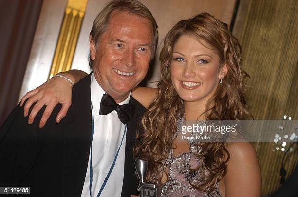 Glenn Wheatley and Delta Goodrem in the media room for the 45th annual TV Week Logie Awards 2003 held at the Crown Casino Melbourne Australia