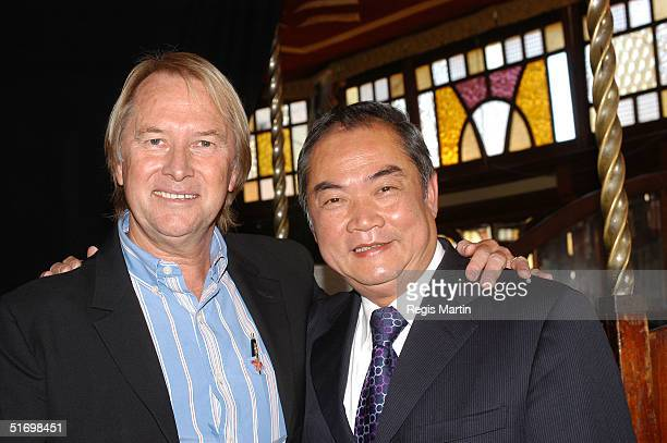 Glenn Wheatley and John So attend the launch of the third Melbourne International Music Festival at The Famous Spiegeltent November 9 2004 in...