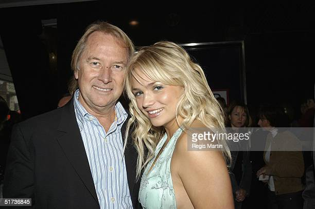 Glenn Wheatley and Stephanie McIntosh attend the unveiling of the 49th Myer Christmas windows at the Myer store November 13 2004 in Melbourne...