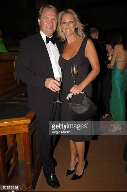 Glenn Wheatley and wife Gaynor at the Moet Chandon Fashion Ball 2003 at the State Reference Library in Melbourne Victoria Australia