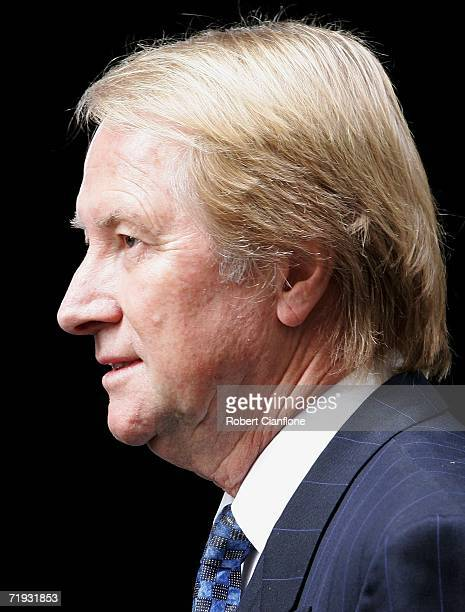Glenn Wheatley arrives at the state funeral at St Paul's Cathedral September 19 2006 in Melbourne Australia Brock was killed in a single car accident...