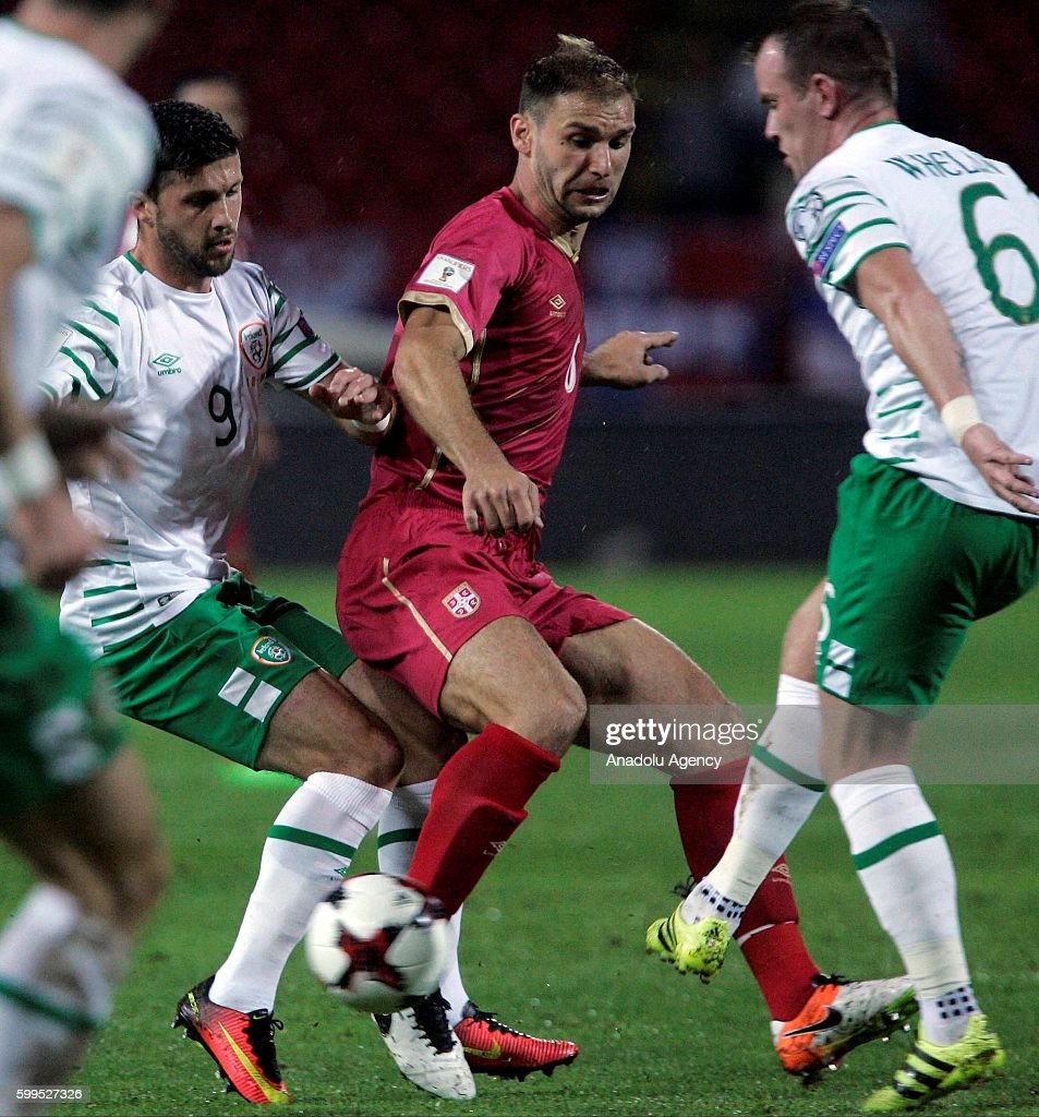 World Cup 2018 Qualification1 Picture Embed Embedlicense Glenn Whelan 6 And Shane Long 9 Of Ireland In Action During