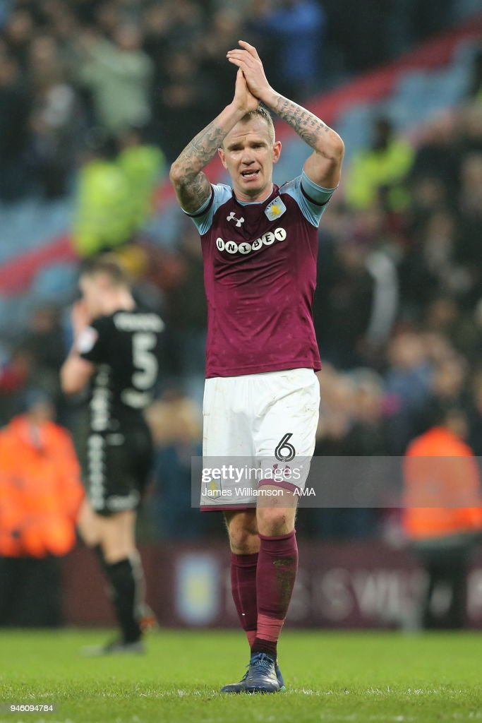 Glenn Whelan of Aston Villa during the Sky Bet Championship match between Aston Villa and Leeds United at Villa Park on April 13, 2018 in Birmingham, England.