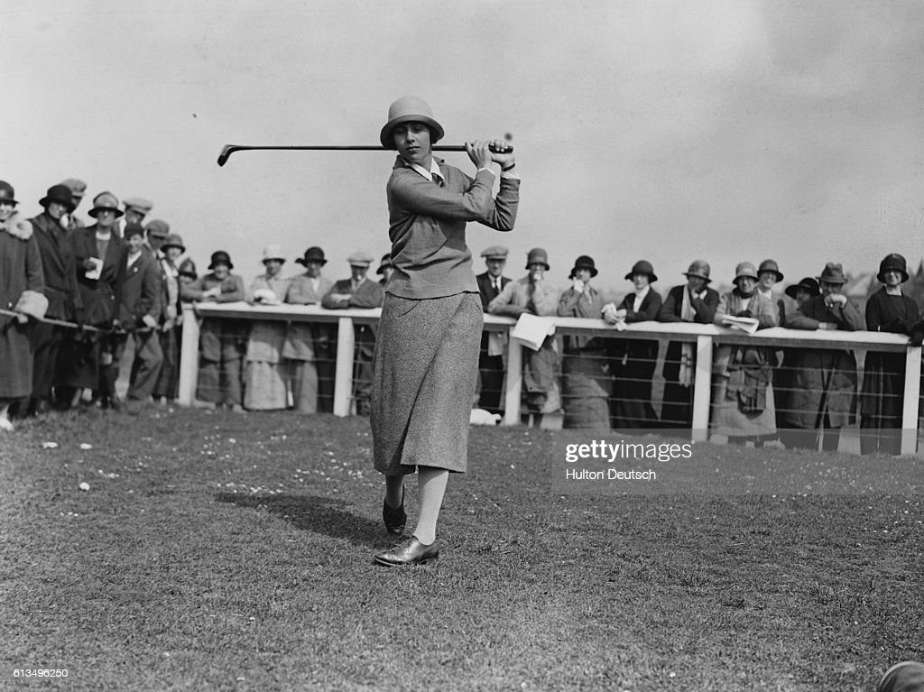 Glenna Collet Competing at the Ladies Golf Championship : News Photo