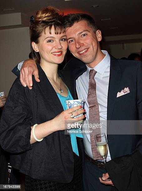 Glenna Ryer and Evan Ryer attend Roy Lichtenstein Barneys New York Limited Edition Collection Launch Event at Barneys New York on May 2 2013 in New...