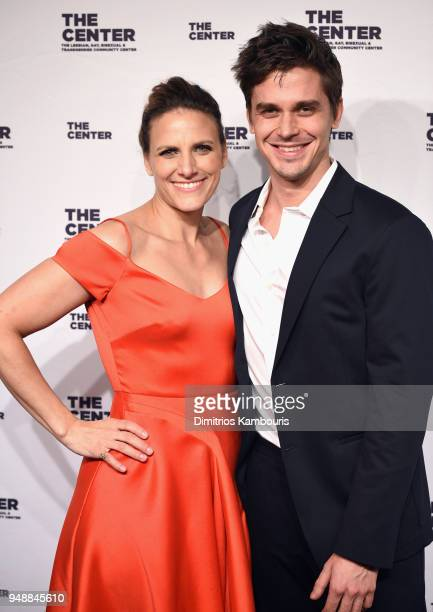 Glennda Testone and Antoni Porowski attend The Center Dinner 2018 at Cipriani Wall Street on April 19 2018 in New York City
