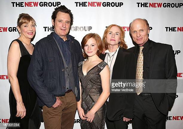Glenne Headly Bill Pullman Juliet Brett Amy Madigan and Ed Harris attend The Jacksonian opening night after party at KTCHN Restaurant on November 7...