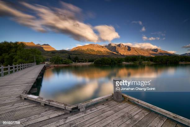 glenorchy pier - pier stock pictures, royalty-free photos & images