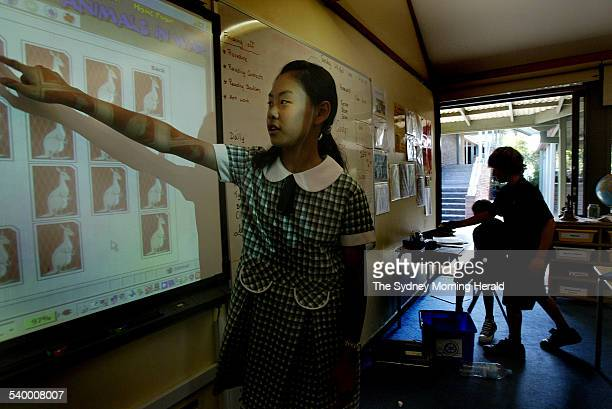 Glenorie public school student Jennifer Tang of Year 6 uses the LAMS Learning Activity Management System during class She has been using the LAMS for...