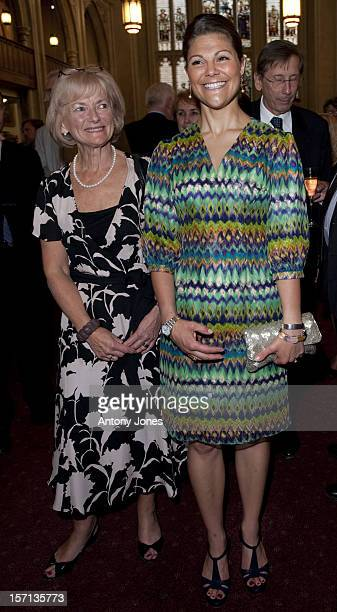 Glenys Kinnock And Crown Princess Victoria Of Sweden Arrives At 'Gala Nordic Concert At The Guildhall Great Hall To Celebrate Sweden Taking Over The...