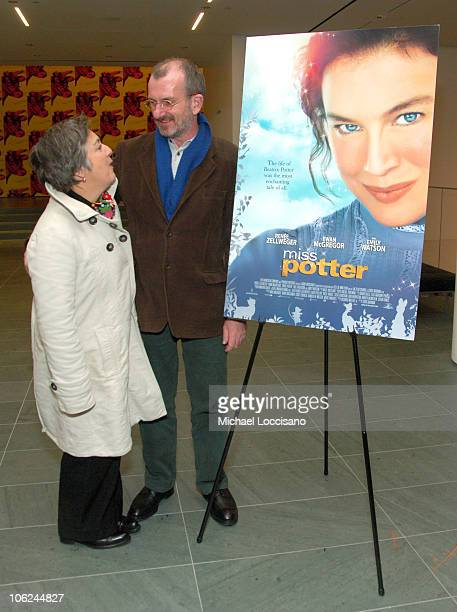 Glenys Rowe and Chris Noonan Director during Miss Potter Special Private Screening at MoMA Theatre in New York City New York United States