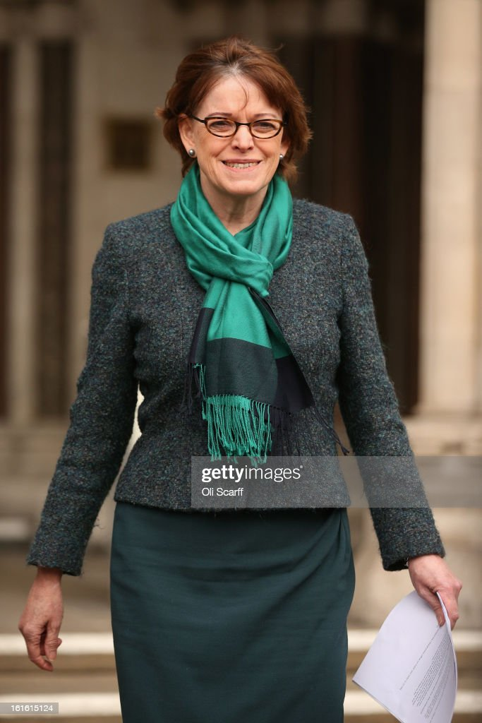 Glenys Stacey, the Chief Executive of Ofqual, the Office of Qualifications and Examinations Regulation, prepares to address the media outside the Royal Courts of Justice on February 13, 2013 in London, England. The High Court has rejected a legal bid from school leaders, teachers' unions and councils to reassign grade boundaries for GCSE English exams sat in summer 2012.
