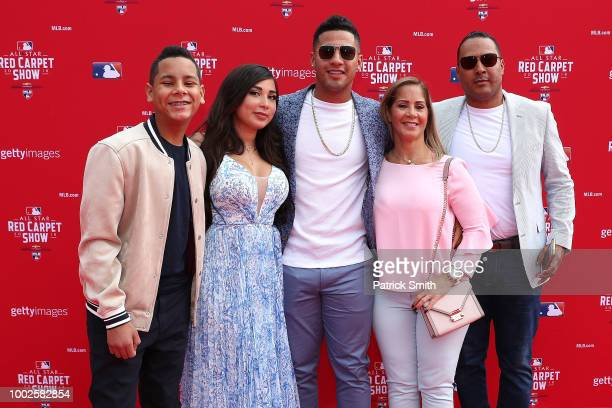 Gleyber Torres of the New York Yankees and guests attend the 89th MLB AllStar Game presented by MasterCard red carpet at Nationals Park on July 17...