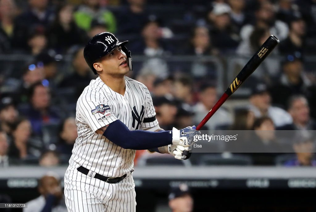 League Championship Series - Houston Astros v New York Yankees - Game Three : News Photo