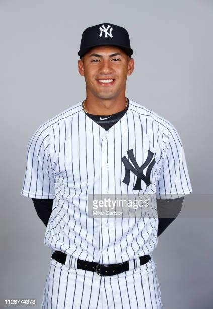 Gleyber Torres of the New York Yankees poses during Photo Day on Thursday February 21 2019 at George M Steinbrenner Field in Tampa Florida