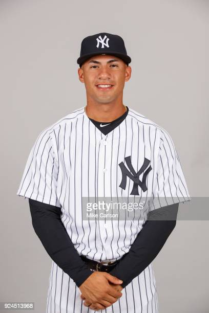 Gleyber Torres of the New York Yankees poses during Photo Day on Wednesday February 21 2018 at George M Steinbrenner Field in Tampa Florida