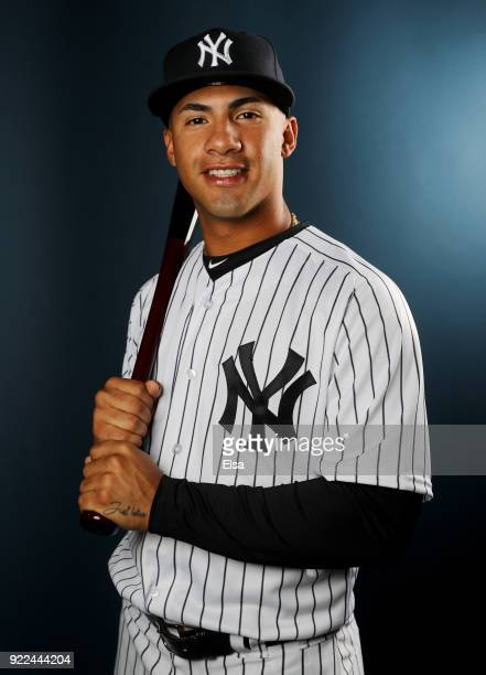 Gleyber Torres of the New York Yankees poses for a portrait during the New York Yankees photo day on February 21 2018 at George M Steinbrenner Field...