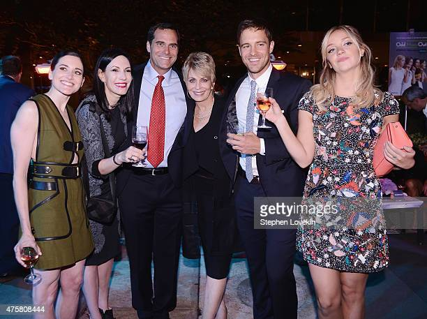 KK Glick Jill Kargman Andy Buckley Joanna Cassidy Sean Kleier and Abby Elliott attend the after party for Bravo's screening of Odd Mom Out at Casa...