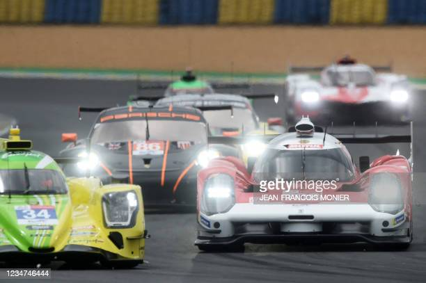 Glickenhauss 007 LMH Hypercar WEC's French driver Olivier Pla competes in the first practice session in Le Mans, northwestern France, on August 18,...