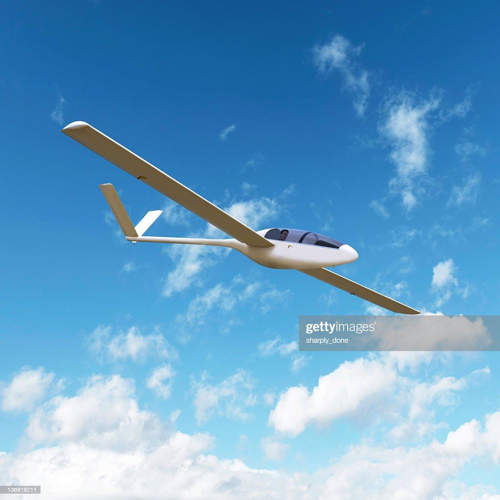 XL glider airplane soaring : Stock Photo