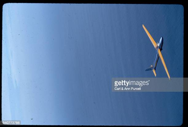 Glider in Flight Over the Pacific Ocean