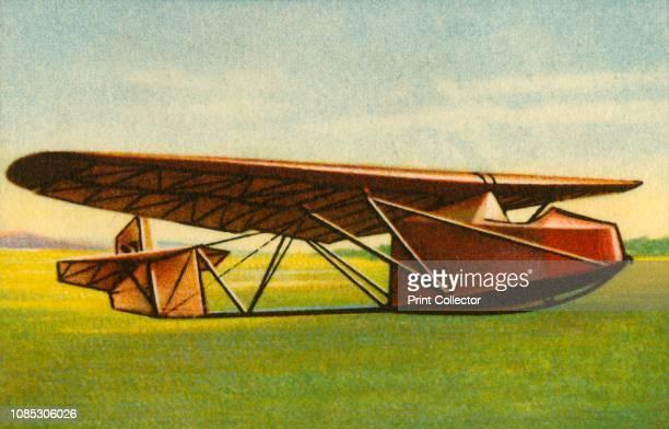 Glider with tubular steel lattice fuselage 1932 From Die Eroberung Der Luft cigarette card album produced by the Garbáty cigarette factory 1932...
