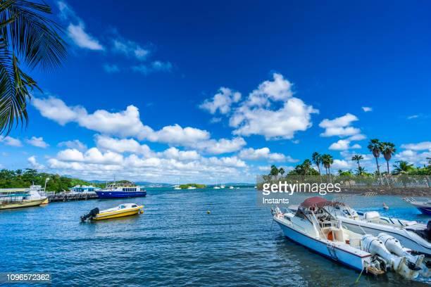 un vistazo a la orilla de trois-îlets, al llegar en el ferry desde fort de france. - isla martinica fotografías e imágenes de stock