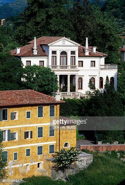 Glimpse of a Venetian Villa, Bassano del Grappa, Veneto, Italy.
