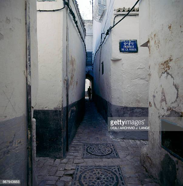 Glimpse of an alley in the Tunis medina Tunis Governorate Tunisia