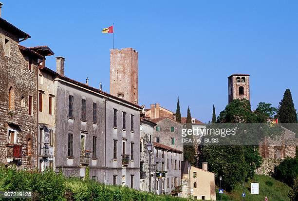Glimpse of Bassano del Grappa, Veneto, Italy.