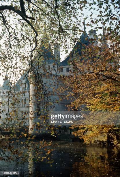 Glimpse of Chateau de AzayleRideau 15101528 Loire Valley CentreVal de Loire France 16th century