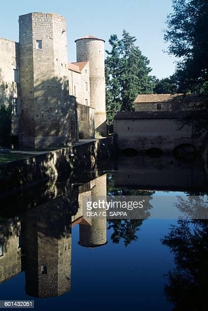 Glimpse of Chateau de Ravel Auvergne France 12th18th century