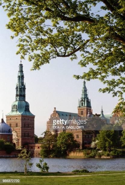 Glimpse of Kronborg Castle , where Shakespeare set Hamlet, Elsinore, Denmark, 15th-17th century.