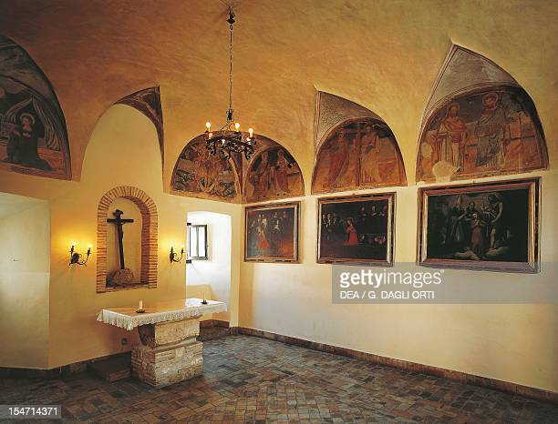 A glimpse of the ancient chorus Convent of the Shrine of St Rita of Cascia Cascia Umbria Italy 13th18th century