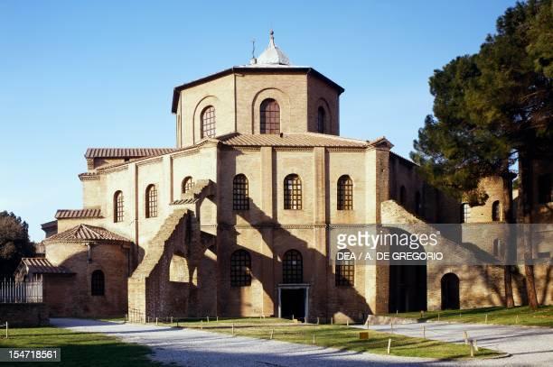 Glimpse of the Basilica of San Vitale Ravenna EmiliaRomagna Detail Italy 6th century
