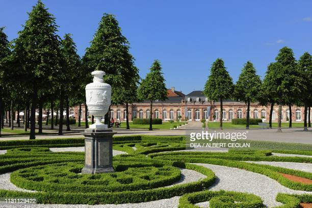 Glimpse of the French garden of Schwetzingen Castle BadenWurttemberg Germany
