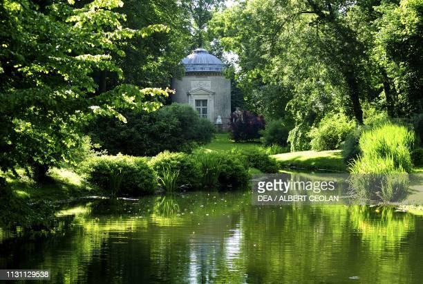 Glimpse of the garden of Schwetzingen Castle BadenWurttemberg Germany