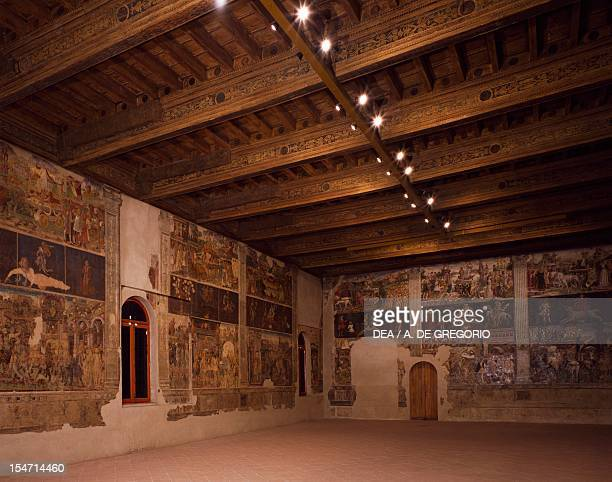 Glimpse of the Hall of Months Palazzo Schifanoia Ferrara EmiliaRomagna Italy 15th century