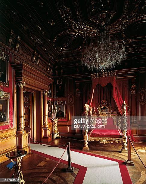 Glimpse of the Imperial Room Miramare Castle Trieste FriuliVenezia Giulia Italy 19th century